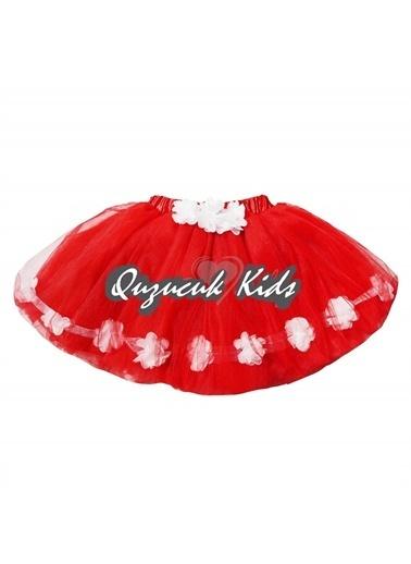 Quzucuk Kids Kız Çocuk Çiçekli Tütü Etek Renkli
